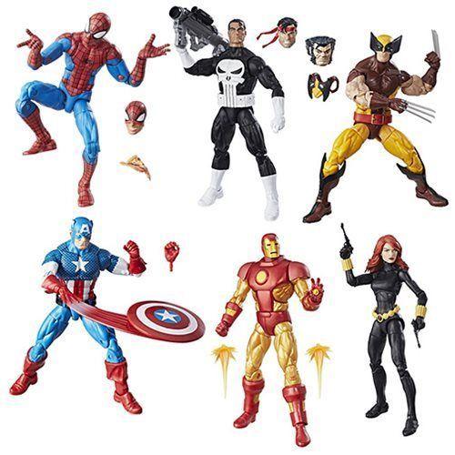 Marvel Legends Super Heroes Vintage 6-Inch Action Figures Wave 1 Complete Set