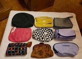 Lot Of 9 Makeup Bags All Brand New Clinique, Lancome, Champagne Collecti... - $29.70