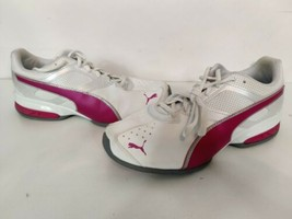 Puma Womens Tazon 6 189877 01 FM Pink White Running Shoes Lace Up Top Size 10 - $49.95