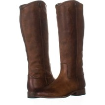 FRYE Melissa Button 2 Tall Riding Boots 204, Cognac, 7 US - $129.59