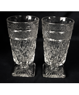 """2 Imperial Glass CAPE COD Water Footed Glasses - 6-1/4"""" tall - $10.00"""