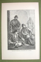 TURKEY Costume of Muslim Mussulman Men & Ladies - 1880s Antique Print - $11.25