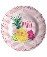 "Tropical Pineapple Melamine Plates 8.5"" Lunch Salad Appetizer Dessert se... - $42.45"