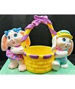 Easter 1991 Crayola Bunnies Figurine  Vintage Crayola Bunny Candy Cotton... - $10.88