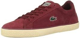 Lacoste Men's Lerond Shoe, Dark Red/Light Tan, 9 Medium US - $57.00