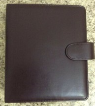 Franklin Planner/ Binder 7 Rings  Brown Snap Closure #469 - $19.79