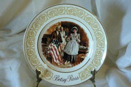 Enoch Wedgwood For Avon 1973 Patriot Flagmaker Betsy Ross Collector Plate In Box - $5.39