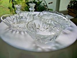 Home Decor Set of 5 Crystal Pieces Heart Bowl Mikasa Crystal Tray More! - $34.64