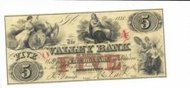 1856 $5 Maryland Hagerstown Valley Bank Red O A O/P Liberty Eagle #1335 ... - $81.94