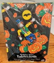 Halloween Holiday Tablecloth Vinyl w/ Flannel Back 3 Different Sizes You... - $18.60+
