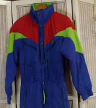 """Vintage EVF 1990s Men's Ski Suit To Fit 36"""" Chest Coveralls Snowboard Ov... - $122.56"""