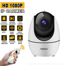 Wireless WiFi 1080P IP Camera Home Security Pan Tilt Webcam Night Vision... - $59.20