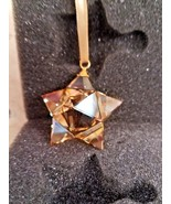 Swarovski Star Ornament, Small, Gold Tone Hanging Holiday Collectible - $36.00