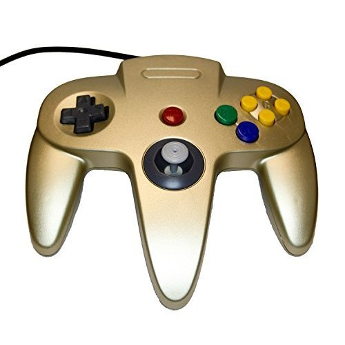 Nintendo Gold Replacement Controller By Mars Devices Gamepad For N64