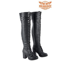 LADIES LEATHER BOOTS KNEE HIGH Milwaukee Riders® SIZE 6 TO 11 MSRP: $249.95 - $69.99+