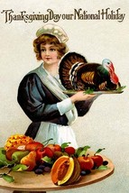 Thanksgiving Day Our National Holiday - Art Print - $19.99+