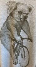 Canvas TM T-Shirt Bear Riding Bicycle Bike Black Sketch Blue Tee Short Sleeves L - $29.69