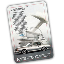 1979 Chevrolet Monte Carlo Magazine Ad Reproduction 8x12 Aluminum Sign - $15.79