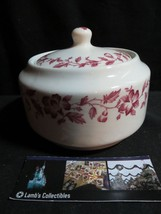 VIntage Shenango china Rimrol Welroc Red floral restaurant ware sugar bowl - $33.24