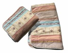 "Croscill Home Fashions King Pillow Shams Pair 36"" x 20"" Rust Beige Blue ... - $25.73"