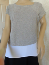 I-N-C International Concept Two-Toned Metallic Top Size L (#2943) - $16.99