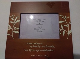 "Maya Angelou Life Mosaic Hallmark 4"" X 6"" Photo Frame With Inspirational... - $34.99"