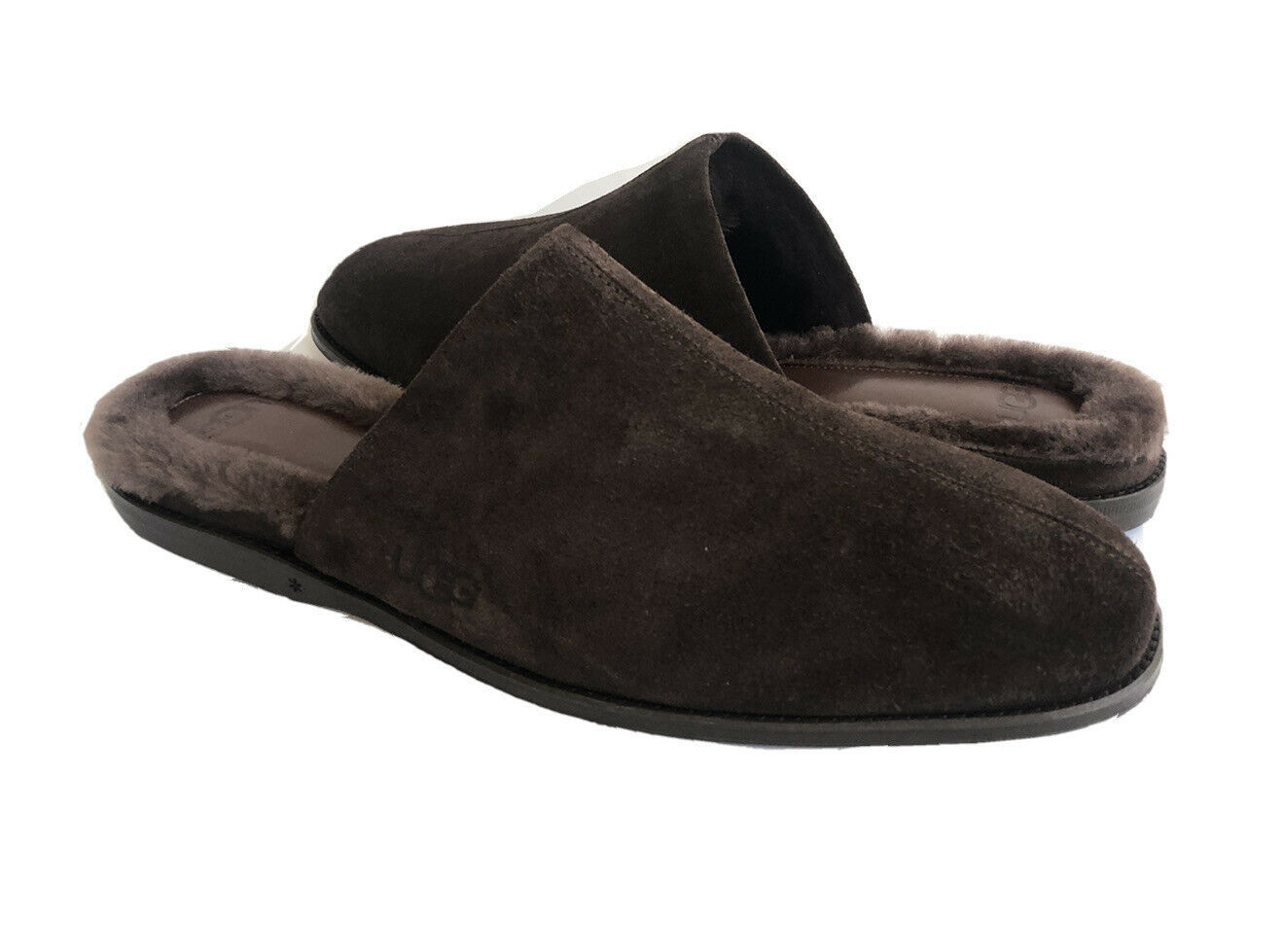 Primary image for UGG WOMEN CHATEAU SLIP ON STOUT TOSCANA FUR SUEDE SLIPPERS US 6 / EU 37 / UK 4