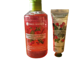 Yves Rocher Raspberry Peppermint Bath/Shower Gel (200 ml) & Hand Cream (30 ml) - $8.33