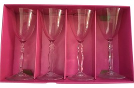 Cristal d'Arques Paris VINTAGE Pattern Crystal Wine Glasses Flute set of 4 New - $46.71