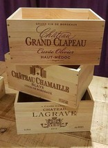 3 X GENUINE FRENCH WOODEN WINE CRATE * BOX  PLANTER CHILDRENS DRAWERS ST... - $44.03