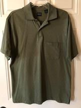 Arrow Short-Sleeve Green Polo Shirt Cotton-Blend Men's Size M - $13.56