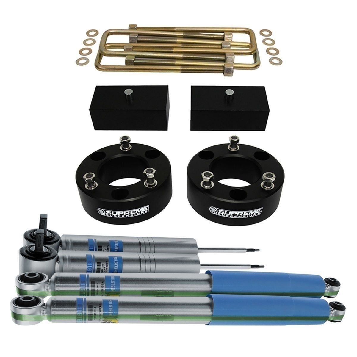 "3/"" Steel Front 2/"" Billet Rear Lift Kit 2000-2013 Chevrolet GM Suburban 2500 4WD"