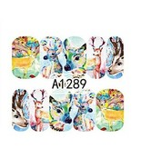 Water Transfer Watermark Art Nails Decal Sticker Manicure Deer Roe A1289 - $1.86