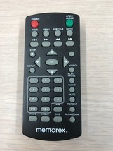 Memorex MVD2015/2016 DVD Remote Control - Tested & Cleaned                  (J1)