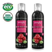 Simply Beyond, Organic Fruit Vinegar, Cranberry, 5 Fl. Oz. 2 Pack - $23.34