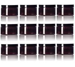Amber 4 Oz Plastic Jar Black Lid - Pack of 12 - $25.98