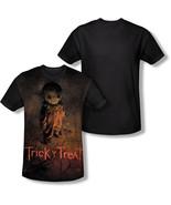 TRICK R TREAT Póster Sublimación Disfraz Halloween Negro Espalda Camiseta S-3XL - $27.10