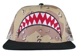 Neff Men's Desert Storm Camo Thunderbolt Mesh Snapback Baseball Hat Cap NWT