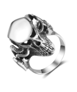 Halloween Unique Skull Ring Real 925 Sterling Silver Finger Rings - $189.99
