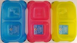Pet Food Water 2 Section Bowls Cats & Dogs  1 Bowl/Pk SELECT: Color of Bowl - $3.99