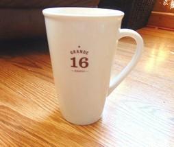 Starbucks White & Brown Grande 16 ounces Tall Coffee Mug Cup 2010 New - $14.84