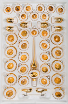 "39 pcs. Glass Reflector Christmas Balls Set in ""Highgloss Vintage Gold"" - $89.99"