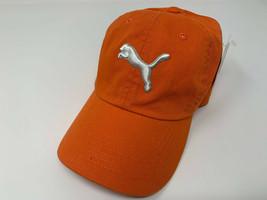 NEW PUMA Adult Unisex Cotton Twill Adjustable Cap/Hat, Vibrant Orange PMGV103 - $49.38