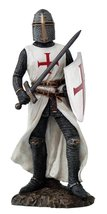 Crusader Knight in Full Shield and Sword Armor Collectible Figurine 11.5... - £28.78 GBP