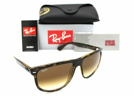 New RAY-BAN FlatTop Boyfriend RB4147 710/51 Polished Havan w/Brow Gradient 60 mm - $127.35
