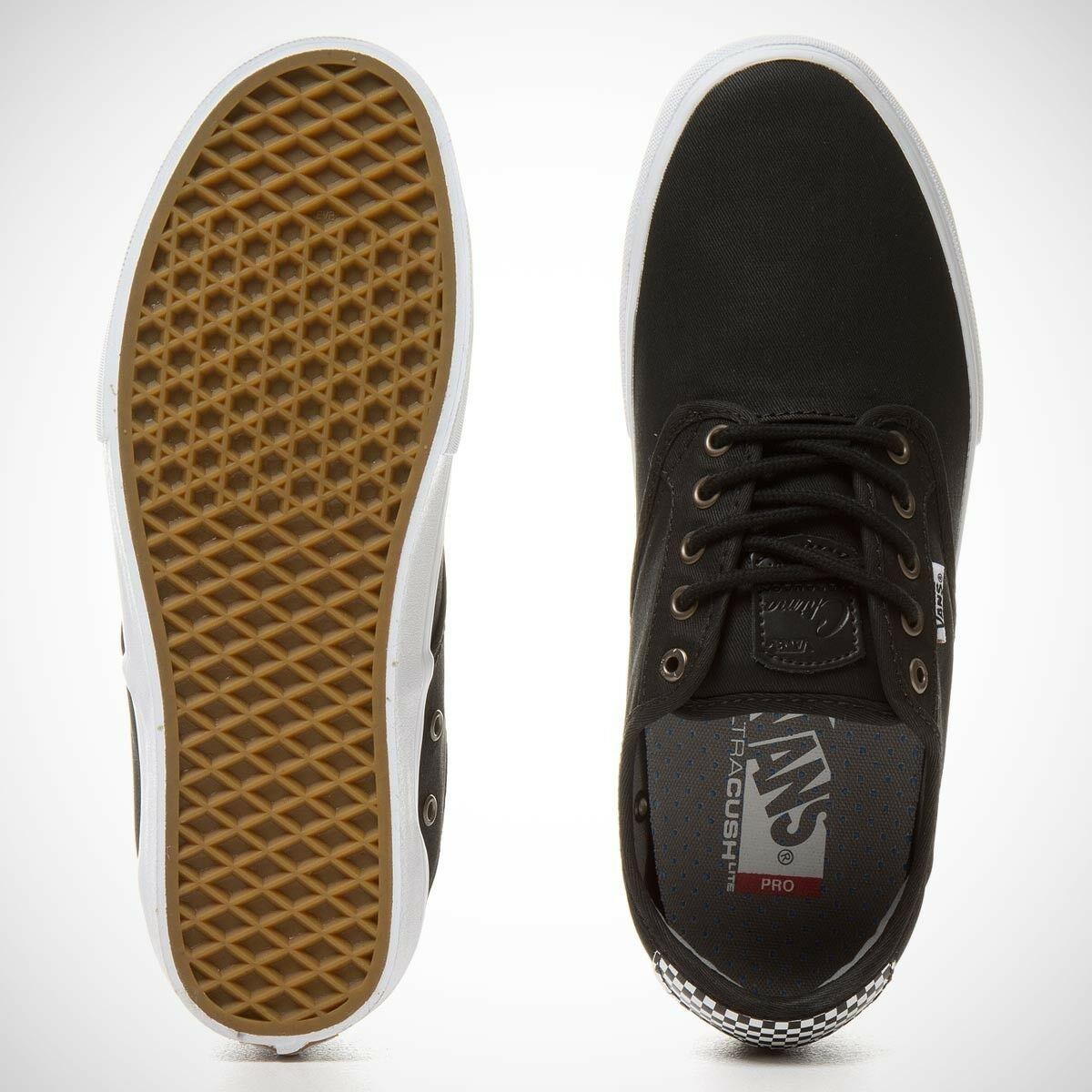 Vans Chima Ferguson Pro WAXED TWILL BLACK CHECKERS Men's Skate Shoes SZ 12 NEW
