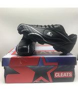 ALL PURPOSE STARTER CLEATS shoes box tags black white size 5 baseball so... - $29.65