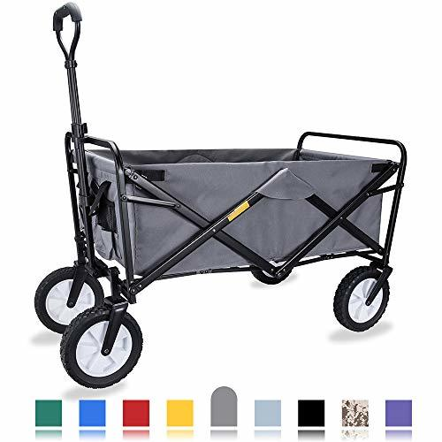 WHITSUNDAY Collapsible Folding Garden Outdoor Park Utility Wagon Picnic Camping