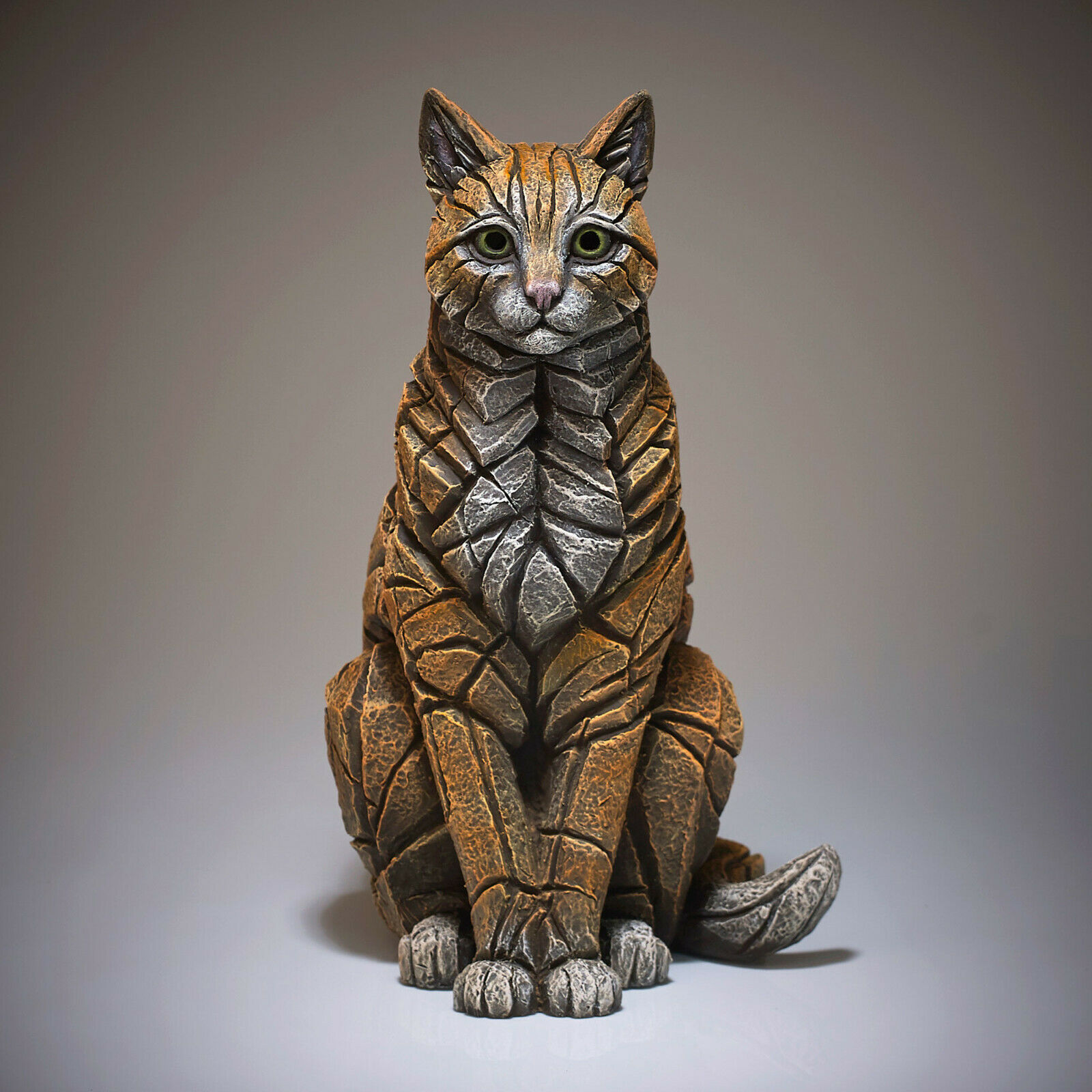"15"" Sitting Cat Sculpture by Edge Sculpture - Stunning Piece"