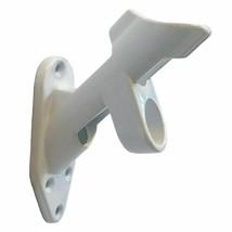 2-Position Flag Pole BRACKET Cast White Aluminum 1 Inch Diameter Mountin... - $9.88